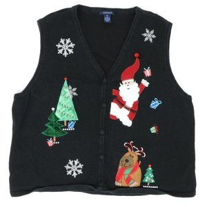 Westbound XL Ugly Christmas Sweater Vest Santa